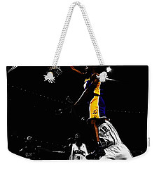 Kobe Bryant On Top Of Dwight Howard Weekender Tote Bag