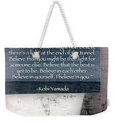Kobi Yamada Weekender Tote Bag