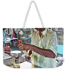 Weekender Tote Bag featuring the photograph Kochi Stall by Marion Galt