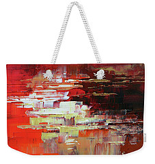 Weekender Tote Bag featuring the painting Kodachrome by Tatiana Iliina