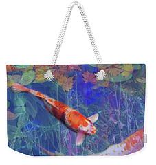Koi Fish Pond Japanese Tea Garden  Weekender Tote Bag