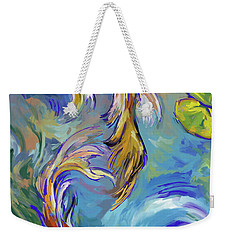 Weekender Tote Bag featuring the painting Koi Fish2 by Tim Gilliland