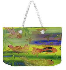 Koi Play Weekender Tote Bag by Meryl Goudey