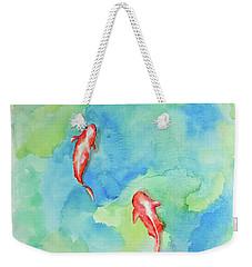 Koi Summer Weekender Tote Bag