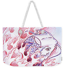 Koi Tattoo Sketch Weekender Tote Bag