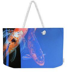 Koi Vi  Blue Weekender Tote Bag