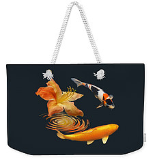 Koi With Azalea Ripples Weekender Tote Bag by Gill Billington