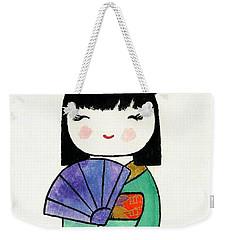 Kokeshi Doll Weekender Tote Bag
