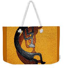 Kokopelli Golden Harvest Weekender Tote Bag by Vicki Pelham