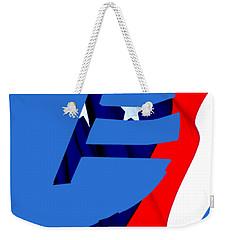 Kokopelli - Patriotic Weekender Tote Bag by William Bartholomew