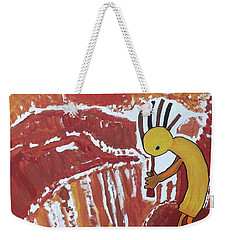 Kokopelli Spring Snow Weekender Tote Bag