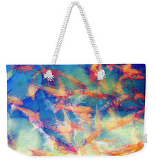 Kolorful Koi Series Weekender Tote Bag by Joseph S Giacalone