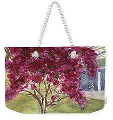 Weekender Tote Bag featuring the painting Kona Bougainvillea by Jamie Frier