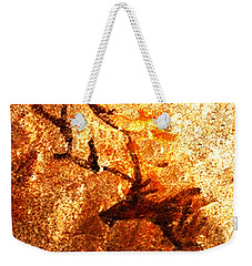 Weekender Tote Bag featuring the digital art Kondane Deer by Asok Mukhopadhyay