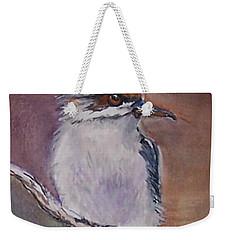 Weekender Tote Bag featuring the painting Kookaburra Fancy by Leslie Allen