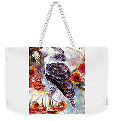 Kookaburra In Red Flowering Gum Weekender Tote Bag