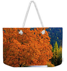 Kootenay Autumn Shed Weekender Tote Bag