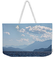 Weekender Tote Bag featuring the photograph Kootenay Lake South by Cathie Douglas
