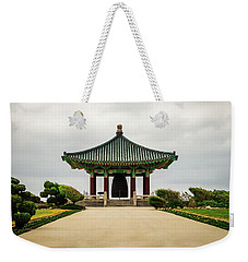 Weekender Tote Bag featuring the photograph Korean Bell Of Friendship by Ed Clark