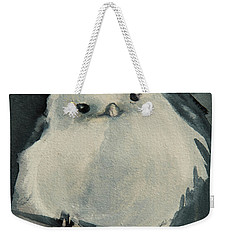 Weekender Tote Bag featuring the painting Korean Crow Tit by Jani Freimann