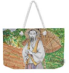 Korean Farmer -- The Original -- Old Asian Man Outdoors Weekender Tote Bag