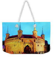 Weekender Tote Bag featuring the photograph Krakow Barbican by Fabrizio Troiani