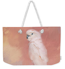 Weekender Tote Bag featuring the photograph Kramer The Moluccan Cockatoo by Theresa Tahara