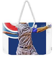 Kris Bryant Chicago Cubs Oil Art Weekender Tote Bag by Joe Hamilton