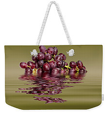 Krissy Gold Grapes To Wine Weekender Tote Bag by David French
