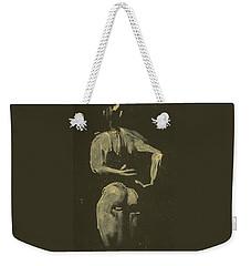 kroki 2014 09 27_4 figure drawing white chalk Marica Ohlsson Weekender Tote Bag