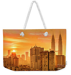 Kuala Lumpur Twin Towers Weekender Tote Bag by Charuhas Images