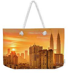 Kuala Lumpur Twin Towers Weekender Tote Bag