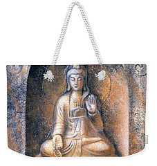 Weekender Tote Bag featuring the painting Kuan Yin Meditating by Sue Halstenberg