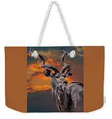 Kudu At Sunset Weekender Tote Bag