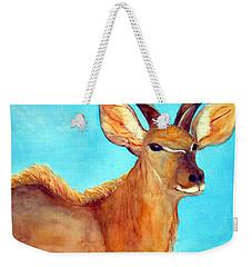 Kudu Weekender Tote Bag by Patricia Beebe