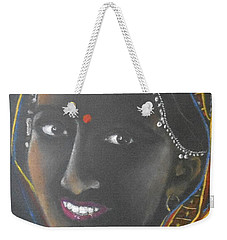 Kumkuma -- Close-up Portrait Of Indian Woman Weekender Tote Bag