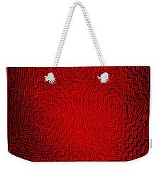 Weekender Tote Bag featuring the digital art Kuna Indian Sun Heat Rays by Vagabond Folk Art - Virginia Vivier