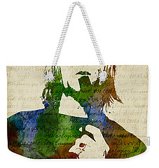 Kurt Cobain Watercolor Weekender Tote Bag