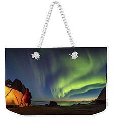 Kvalvika Under The Lights Weekender Tote Bag by Alex Conu