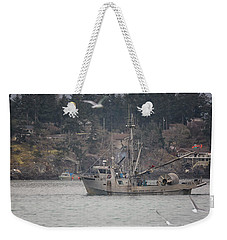 Weekender Tote Bag featuring the photograph Kwiaahwah by Randy Hall