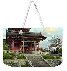 Weekender Tote Bag featuring the photograph Kyoto Temple by Corinne Rhode