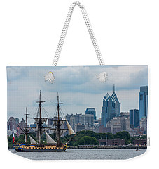 L Hermione Philadelphia Skyline Weekender Tote Bag by Terry DeLuco