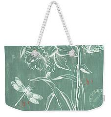 La Botanique Aqua Weekender Tote Bag