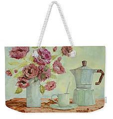 La Caffettiera E I Fiori Amaranto Weekender Tote Bag