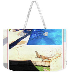 la Casita Playa Hermosa Puntarenas Costa Rica - Iguanas Poolside Greeting Card Poster Weekender Tote Bag