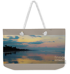 la Casita Playa Hermosa Puntarenas - Sunrise One - Painted Beach Costa Rica Panorama Weekender Tote Bag