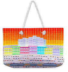 L.a. Cityscape Weekender Tote Bag