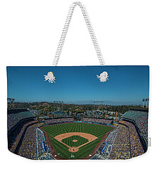 Weekender Tote Bag featuring the photograph La Dodgers Stadium Baseball 2087 by David Haskett