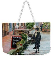 La Femme Aux Tulipes Weekender Tote Bag