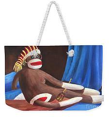 La Grande Sock Monkey Weekender Tote Bag by Randy Burns